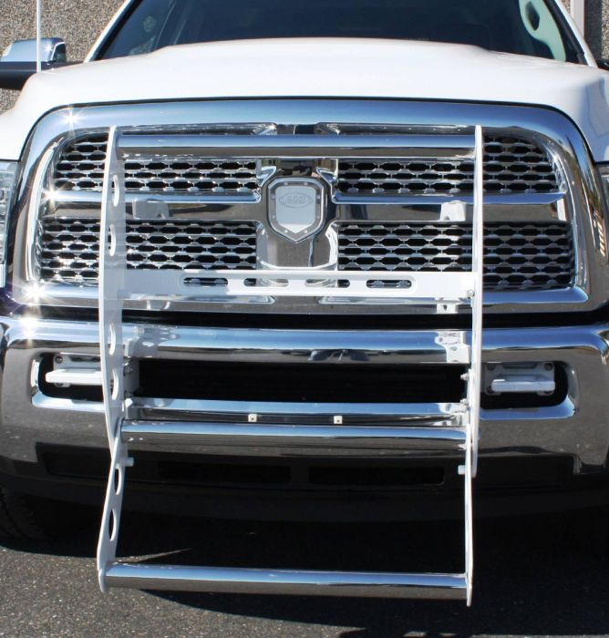 All Sales AMI 19285WS Swing Step Gloss White Powder Coat w//Stainless Cross Bars