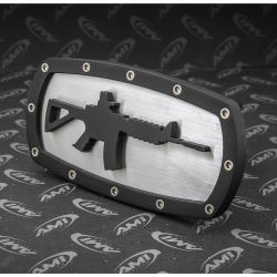 AR-15 Rifle Replica Hitch Cover - Stainless Steel and Billet Aluminum - AMI Styling