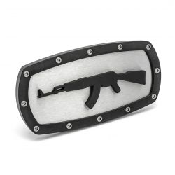 AK-47 Rifle Replica Hitch Cover - Stainless Steel and Billet Aluminum - AMI Styling