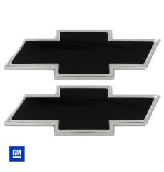 Chevy Bowtie Grille & Tailgate Emblem - Polished/Black Powdercoat - #96127KP